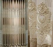 Tulle Clothe Window Curtains European Elegant Style Ceiling Installations Decors