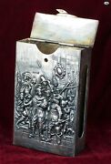 Antique Dutch Andrsquothe Night Watchandrsquo Painting Embossed Sterling Silver Match Safe Box