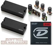 Emg 35dcx 4 String Soapbar Active Bass Pickup Set And Bqs System Preamp Strings