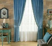 Blackout Window Curtains Treatments Ceiling Installation Cloth Voile Curtain New