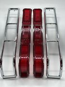 1966 Chevrolet Impala Tail Light Lamp Lens And Bezel Lh Rh Pair Limited Offer