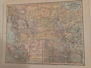 Antique Maps Of Canada, Provinces And Terr. Framed Will Make Great Wall Group/1897
