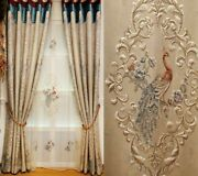 Embossed Jacquard Curtain Embroidered Voile Treatment Floral Home Decoration New