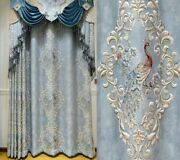 Peacock Embossed Blackout Curtains For Living Rooms Bedroom Jacquard Curtain New
