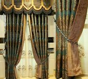 Jacquard European Blackout Curtains Embroidered Window Treatment Home Decoration