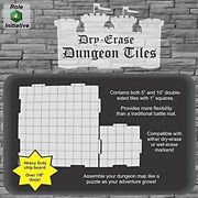 Dry Erase Dungeon Tiles, Combo Set Of Five 10 And Sixteen 5 Interlocking For