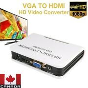Audio Vga To Hdmi Converter 1080p Hd Tv Video Adapter Box For Laptop Pc Computer