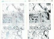 Amazing Spider-man 10 P.14 Pencil And Ink Versions 2pc Set Art By Humberto Ramos