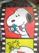 Vintage Peanuts Snoopy Woodstock Very Rare Curtain Hanging Art Film Strip 6and0396