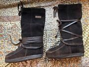 Womenand039s Steger Mukluks Moosehide Winter Boots With Liners Sz. 6