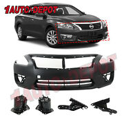 Primed Front Bumper Cover Replacement For 2006-2013 Chevy Impala W/fog 89025048