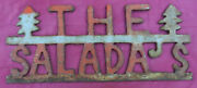 Cool Vintage Camp Home Sign The Salada's Cut Out Painted Steel 50 Off 3/26/21