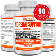 Adrenal Support 90 Capsules For Relaxation And Sleep Aid Stress And Fatigue Relief