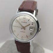 Vintage Helbros Menand039s Manual Winding Watch France Lorsa P75 17jewels 1960s