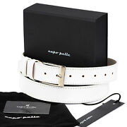 Gifts For My Husband Menand039s White Leather Belt Silver Color Buckle With Box Capo