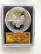 2020-w Pcgs Pr70dcam 1 Silver Eagle V75 Privy First Day Of Issue Cleveland Sign