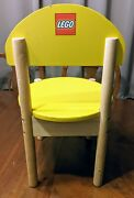 Lego Wood Kids Chair Yellow Play Room Daycare Furniture Child Seat