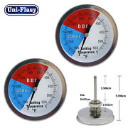 100-550℉ Stainless Steel Barbecue Bbq Smoker Grill Thermometer Temperature Gauge