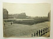Vintage Photograph Military Parade Chatham Band Pith Helmets Gale And Polden Navy