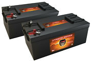 Qty2 Vmax Xtr8d-310 12v 4.1kwh Battery For Rv/boat/bus Auxiliary Power Grp 8d