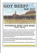 Wyoming Grass Fed Custom Processed Usda Inspected Beef
