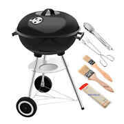 High-end 17 Inch Charcoal Grill Barbecue Portable Bbq - Stainless Steel Bbq