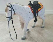Euc American Girl Doll Saige's Horse Picasso Parade Saddle With Blanket Retired