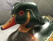 Wood Duck -hand Carved/ Thomas Chandler -abercrombie And Fitch- Circa 1980/vintage