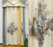 Jacquard Blackout Curtains Window Treatment Ceiling Installation Floral Patterns