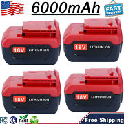 6.0ah For Porter Cable 18v Lithium Ion Battery Pcc692l Pc18b Pc18bl Pc18bl Drill