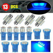 13x Led Lights Interior Package Kit For Dome License Plate Lamp Bulbs Ice Blue