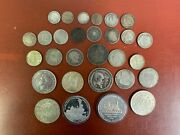 Mixed Lot Silver Foreign Coins Some Better Types 200 Grams 29