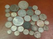 Mixed Lot Silver Foreign Coins Some Better Types 200 Grams 31 Coins 2