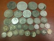 Mixed Lot Silver Foreign Coins Some Better Types 200 Grams 32 Coins 3
