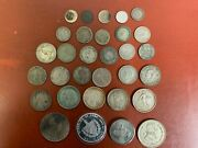 Mixed Lot Silver Foreign Coins Some Better Types 200 Grams 31