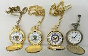 Lot Of Four 4 Pocket Watches May Need Batteries Used Condition.
