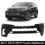 New Front Bumper Cover Replacement For 2017-2019 Toyota Highlander 521190e350160