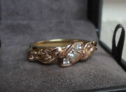 Clogau Welsh 18ct Yellow And Rose Gold Tree Of Life 3 X Diamond Ring - Size L