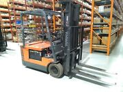 Toyota 5fbe18 Electric Forklift With 3 Stage Mast 1997 19355 Hours 36v