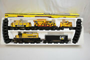 2007 Cat Caterpillar Construction Express Toy Train Set Battery Operated Tested