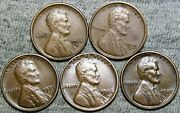 1914-s 1919-s 1926-d 1927-s 1925-s Lincoln Cent Wheat Penny -- Nice Lot -- J746
