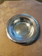 Antique Sterling Silver Rogers, Lunt And Bowlen 6 Pierced Bowl Exc