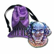 5- 2 Oz.999 Fine Silver Monarch 3d Art Bar- Evil Clown With Gift Bag In Stock