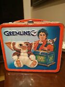 Collectible 1984 Gremlins Metal Lunch Box Warner Brothers Aladdin Industries
