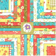 2 Rare - 5 Lovely Moda Charm Packs + Pattern Quilt Kit By Sandy Gervais Fabric