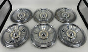 Lot Of 6 Rare Vintage 1957 Ford 14 Fairlane Galaxie Hubcaps Wheel Covers