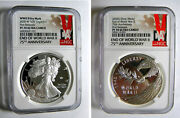 2020 W End Of World War Ii Eagle V75 And Silver Medal 75th Anniv Ngc Pf70 Set
