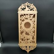 Woodland Scene Scroll Work Reclaimed Wood Bird House Wall Hanging Signed