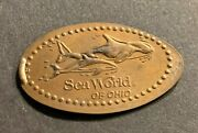 Elongated Cent Sea World Of Ohio Whaleandnbsp Retired Smashed Pressed Penny 3