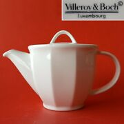 Villeroy And Boch Luxembourg Geo 2-cup Off-white Mini Teapot W/ Lid. Angled Panels
